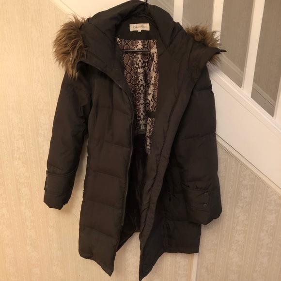 Calvin Klein Pe E Puffer Coat With Fur Hood